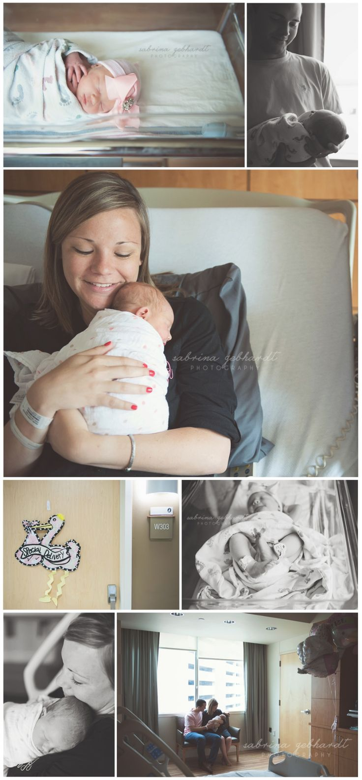 First 48 session in hospital. Newborn photography.