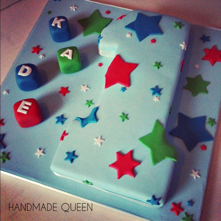 Cake Design Number 1 : Boys 1st Birthday Cake #number #one 1 Handmade Queen ...