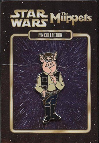 Disney Pin - Link Hogthrob as Han Solo - Muppet Mystery Collection //Price: $21.99 & FREE Shipping //     #starwarsfan