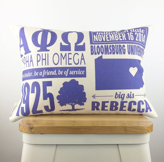 Show your Alpha Phi Omega love with a customized infographic pillow.