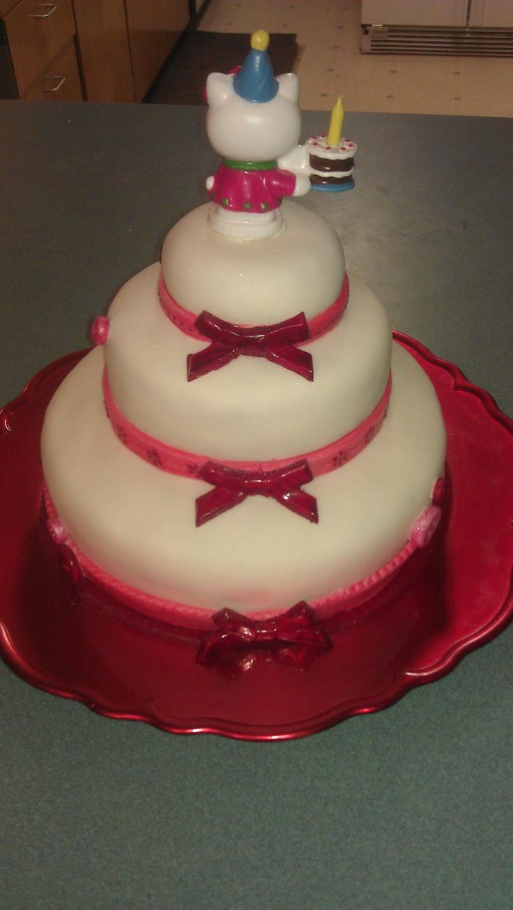 Back of Hello Kitty cake