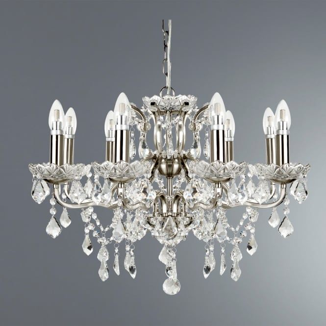 Searchlight Lighting 8738 8ss Paris 8 Light Ceiling Chandelier In