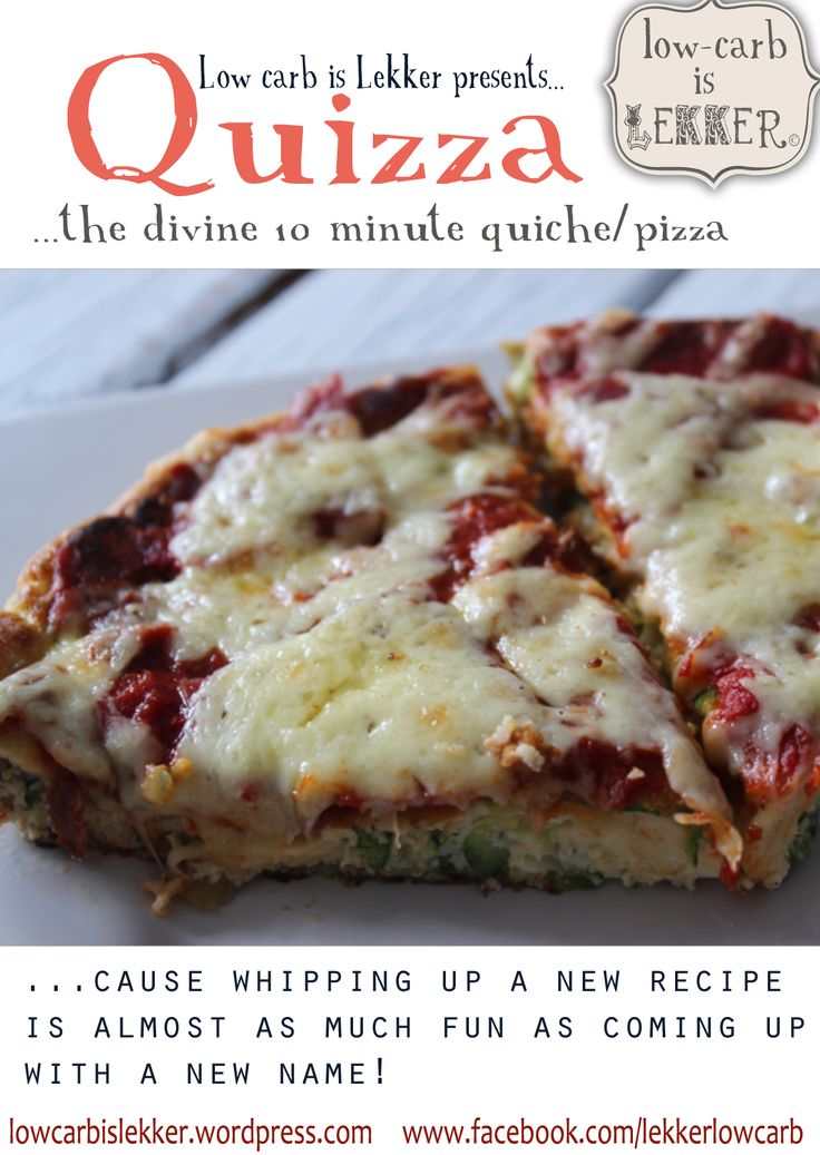 Quizza (Quiche Pizza) – The Mr & Mrs Smith of Low Carb cuisine - skillet pizza with cream cheese, zucchini based crust