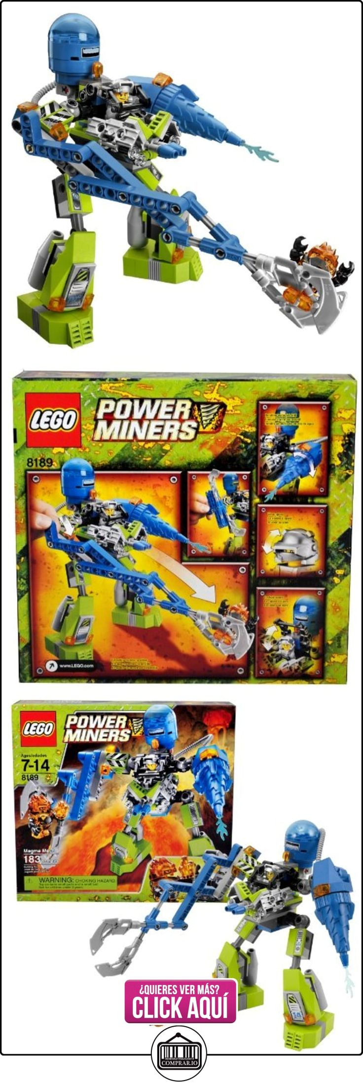 Lego Year 2010 Power Miners Series Vehicle Set # 8189 - MAGMA MECH with Scissor Claw and Water Jet Plus Firax and Power Miner Engineer Minifigures (Total Pieces: 183) by Power Miners  ✿ Lego - el surtido más amplio ✿ ▬► Ver oferta: https://comprar.io/goto/B005WFZCUG