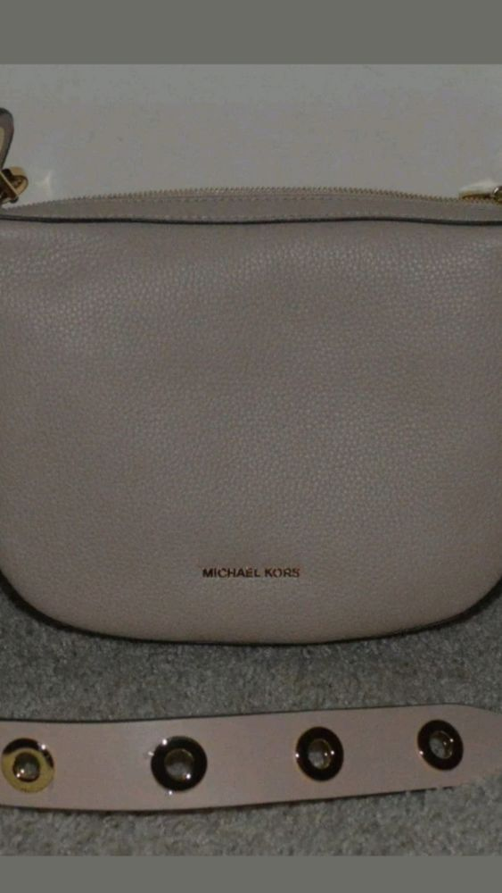 f1c4578ee885 NEW Michael Kors Barlow Medium Leather Crossbody Bag Oyster NWT Purse  298   fashion  clothing  shoes  accessories  womensbagshandbags ...