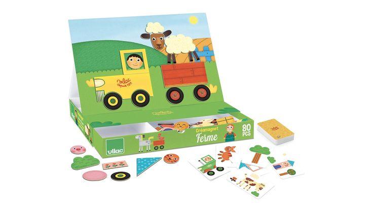 Farm, mágneses játék fából, 3 éves kortól - Vilac