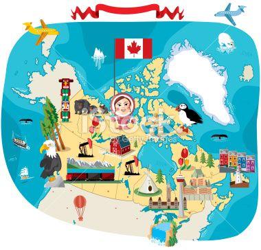 12 best CANADA CARTOON MAP images on Pinterest Vector