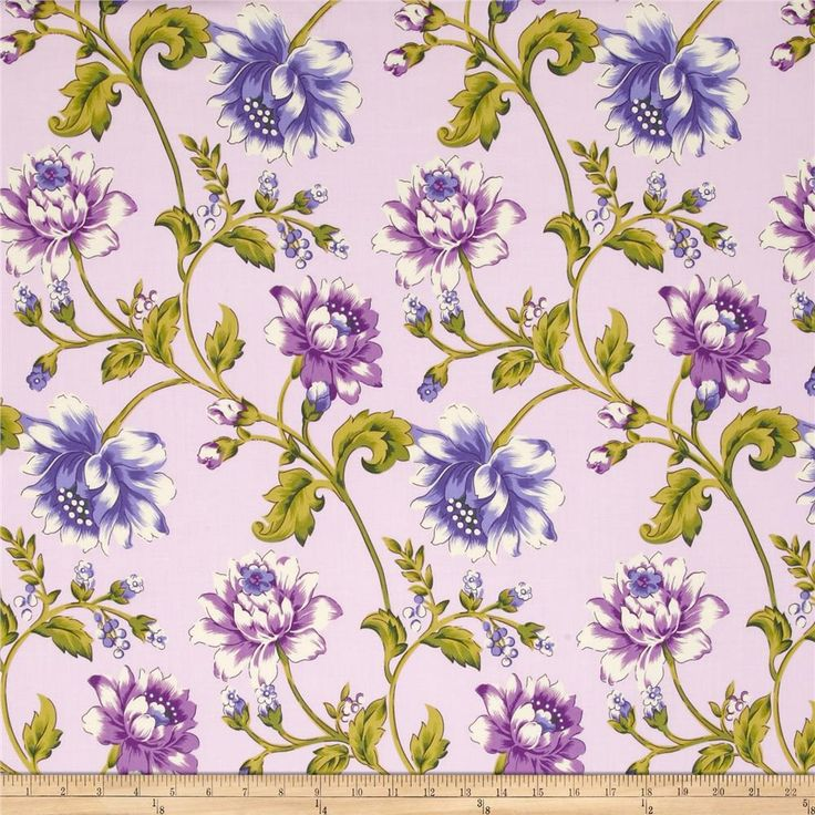 April Cornell Glorious Garden Rosehip Lilac from @fabricdotcom  Designed by April Cornell for Free Spirit, this fabric is perfect for quilting, apparel and home decor accents. Colors include white, violet, green and purple.