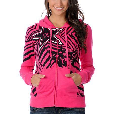 The pink Spike Vortex zip hoodie from Rockstar Energy Drink and Fox Girls