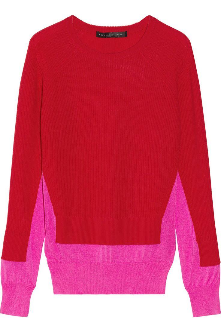 Marc by Marc Jacobs Bella silk-paneled cashmere sweater NET-A-PORTER.COM