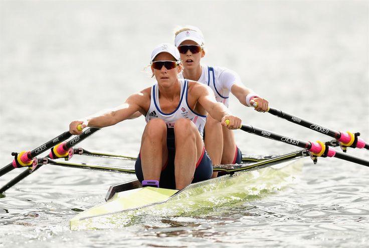 Katherine Grainger & Vicky Thornley at Lake Lagoa at the 2016 Rio Olympics