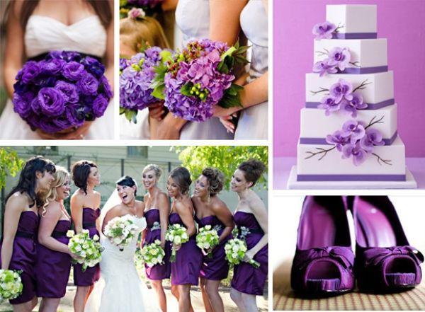 tematikus het inspiracio eskuvo , lila tematikus hét lila esküvői montázsok lila esküvői inspiráció