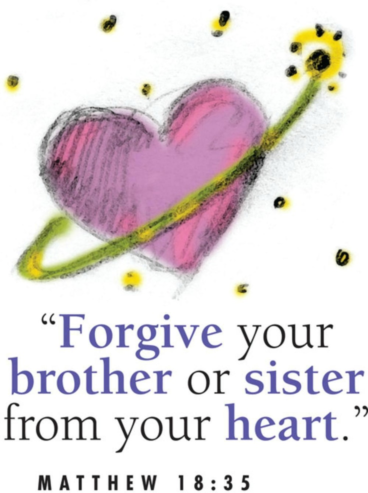 So likewise shall my heavenly Father do also unto you, if ye from your hearts forgive not every one his brother their trespasses. ~ Matthew 18:35 KJV~