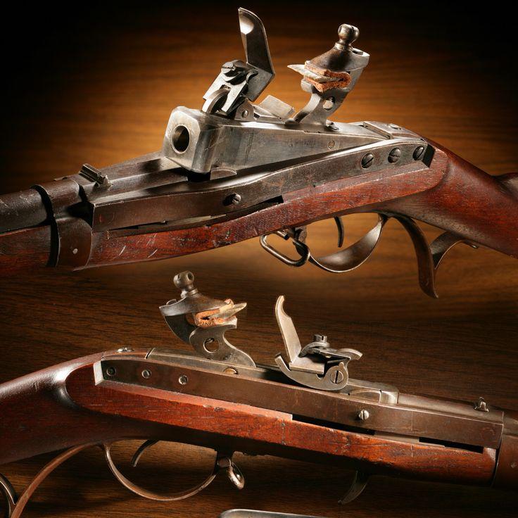 Hall 15-shot Revolving Rifle – Several American repeating