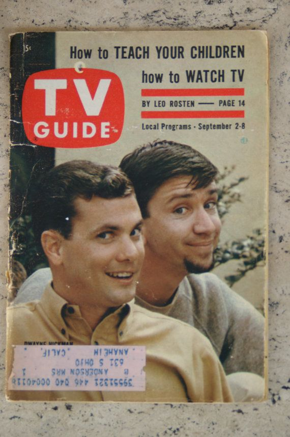 September 1961 TV Guide With Dwayne Hickman (Dobie) and Bob Denver (Maynard G. Krebbs) from The Loves of Dobie Gillis