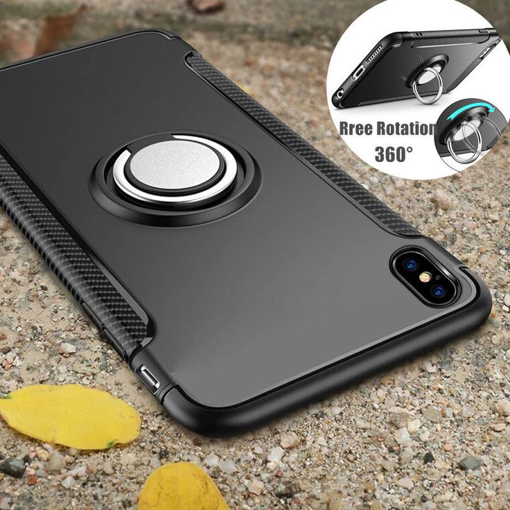 New For iPhone X 8 Plus Shockproof Ring Finger Loop Grip Magnetic Car Mount Case