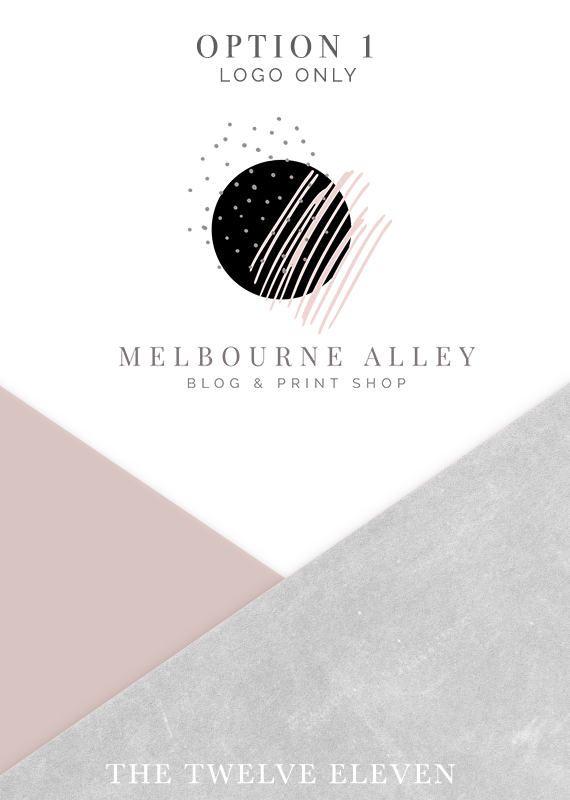 https://www.etsy.com/au/shop/thetwelveeleven, MODERN, TREND, PRE-MADE LOGO, Logo - Etsy - Branding - Business - Photography - Boutique, Blush Pink, Funky