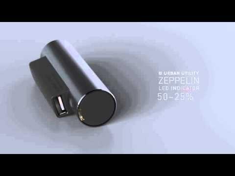 アーバンユーティリティ モバイルバッテリー 「ゼッペリン」 LEDインジケーター