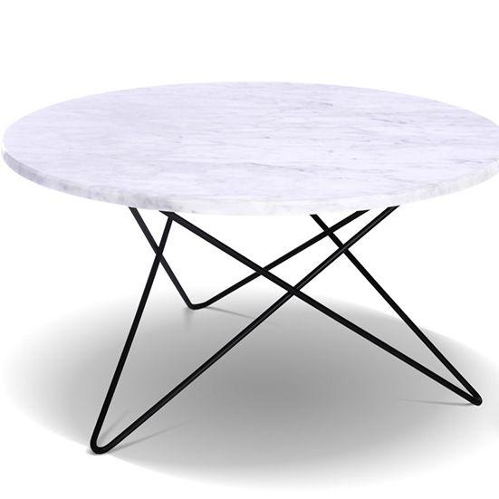 O- Bord av marmor fra OX Design, 2Rom. 4750,-