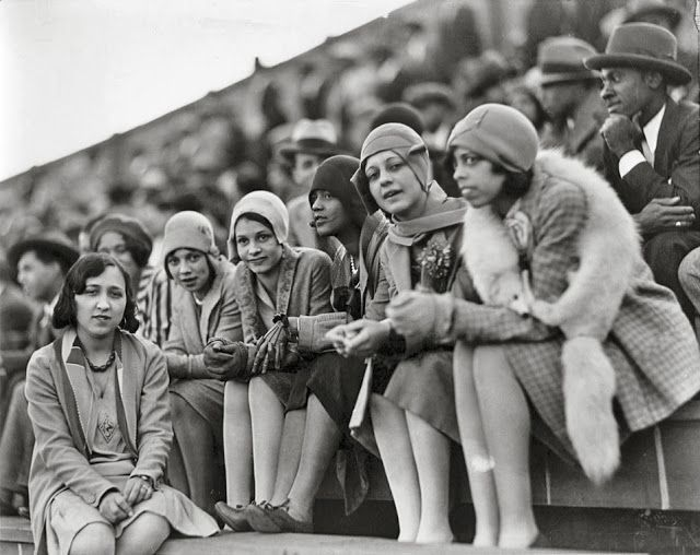 Howard University students watching a football game, ca. 1920s