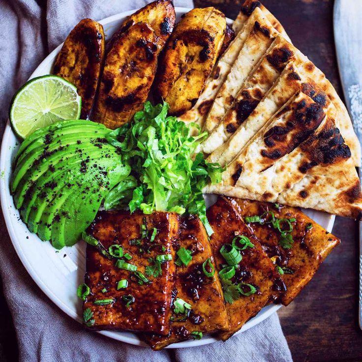 Teriyaki Glazed Tofu Steaks #plantbased #vegan #protein