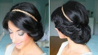 Cute & Easy Summer Up-Do- tried this and it was super easy! The hardest part is getting the headband in the right spot on your head so it doesn't slip off. I also liked it kind of messier by leaving some of the ends out and not tucking all of your hair in all the way.