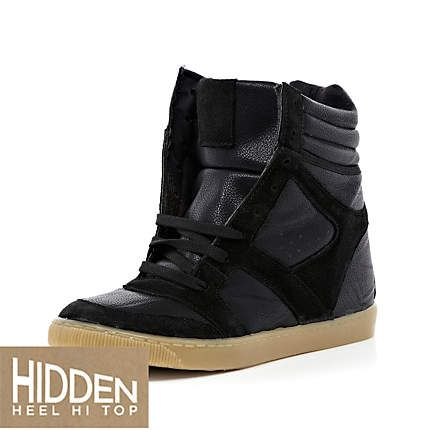 River Island Womens hidden wedge high top sneakers xEyIXroH0m