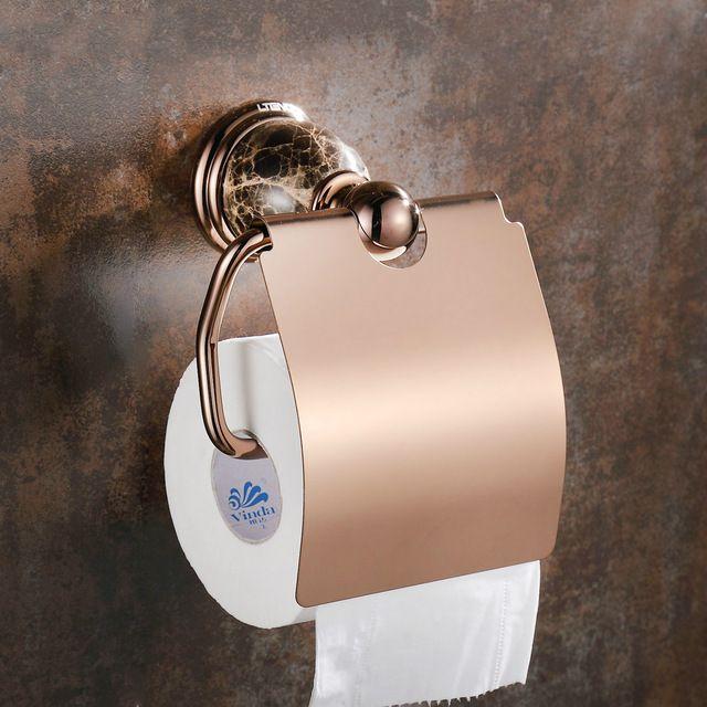 Europeu de Bronze Antigo Suporte de Papel Higiênico Caixa de Tecido Rosa de Ouro Polido Cerâmica caixa de Tecido Suporte de Rolo de Acessórios Do Banheiro mj1