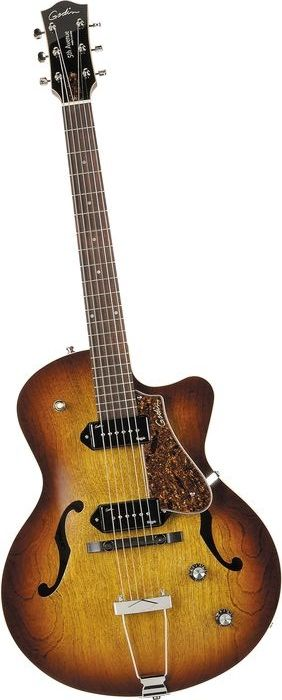 Godin 5th Avenue CW Kingpin II Archtop Electric Guitar Cognac Burst (via Musician's Friend)