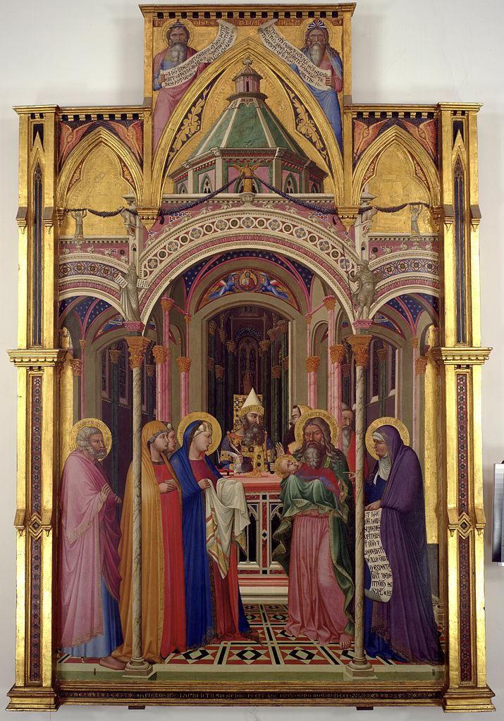 Ambrogio Lorenzetti, Presentazione al Tempio,1342, tempera ed oro su tavola, Firenze, Galleria degli Uffizi | Pearltrees