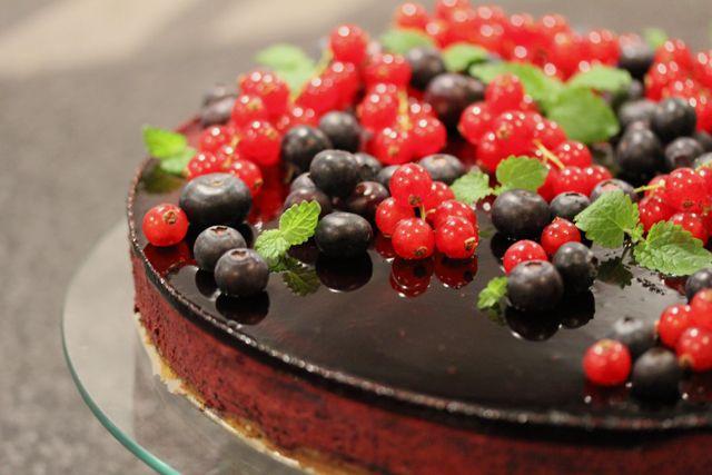 Blåbær-ostekake