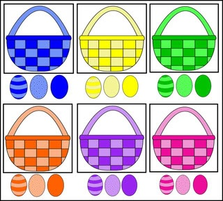Great Printable for Easter- make a file folder game