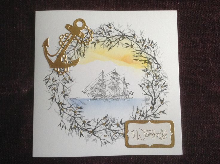 Card I made using inspiration from Wendy of Card-io Stamps at her demo day in the Crafty Nook, Durham.