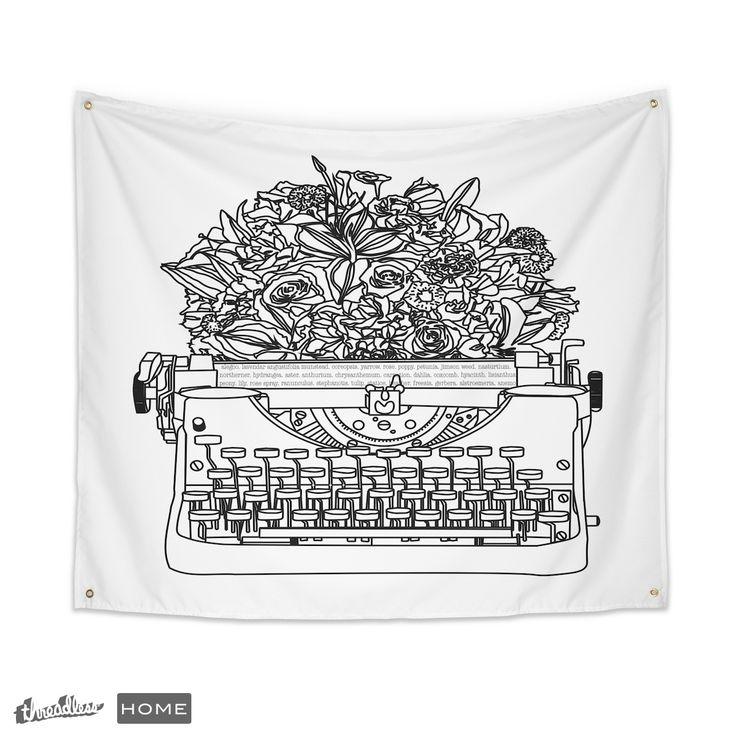 Score my Typewriter Bouquet design on Threadless!
