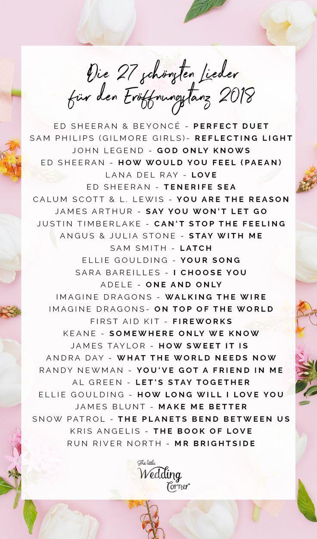 Eroffnungstanz Hochzeit Modern Eroffnungstanz Hochzeit Hochzeitslieder 2018 Wedding Songs Beautiful Weddings Wedding Beauty Plan