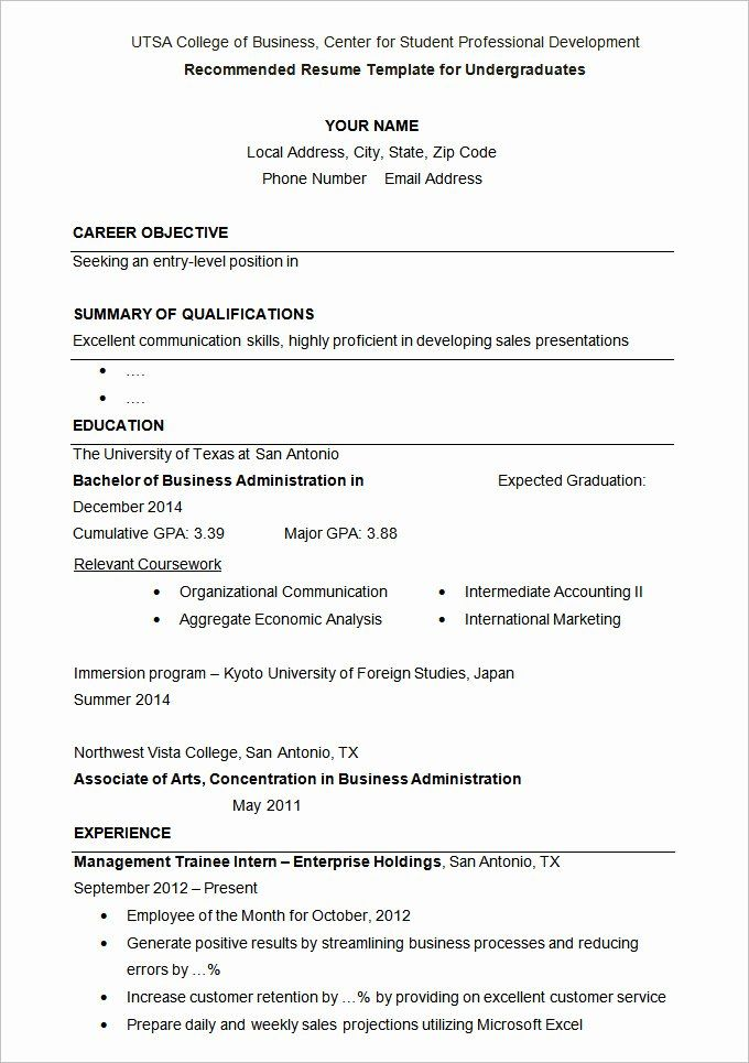 Resume Template College Student Beautiful 24 Student Resume Templates Pdf Doc Student Resume Template Student Resume College Application Resume