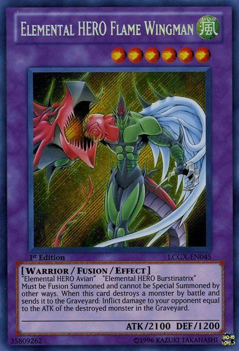 Yugioh card -  elemental hero flame wingman