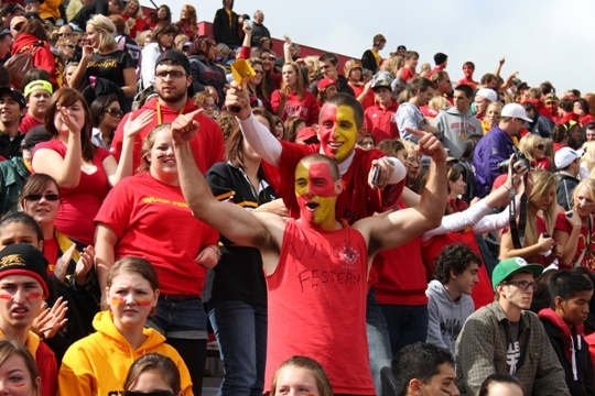 Homecoming 2010: University of Guelph Gryphons against Western Mustangs.