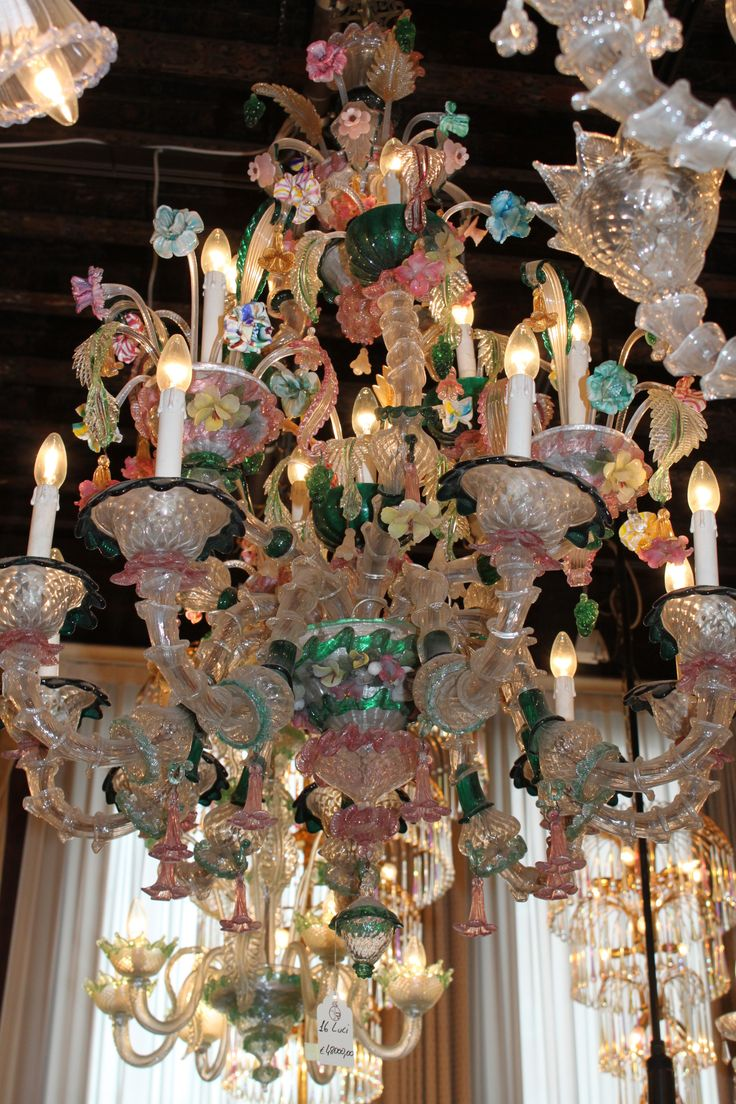 From our trip to Venice...glass blowers provided us with so many 'ahhhhh's' - love this colorful Chandelier