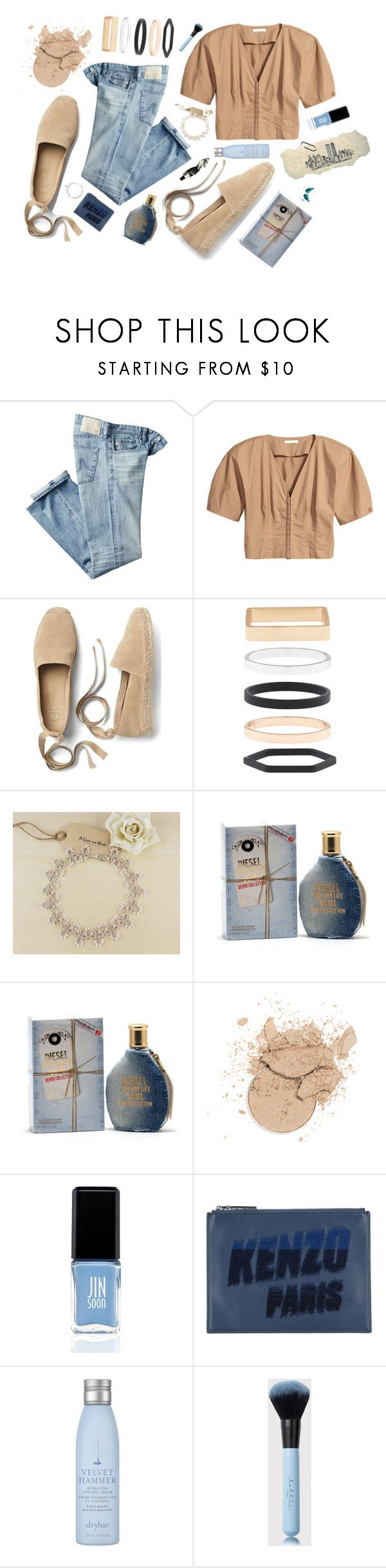 """""""city girl 🌆"""" by itsdebraxo ❤ liked on Polyvore featuring AG Adriano Goldschmied, Gap, Accessorize, Diesel, JINsoon, Kenzo, Drybar and Aesop"""