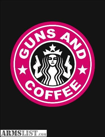 ARMSLIST - For Sale: GUNS AND COFFEE DECALS GREEN AND PINK
