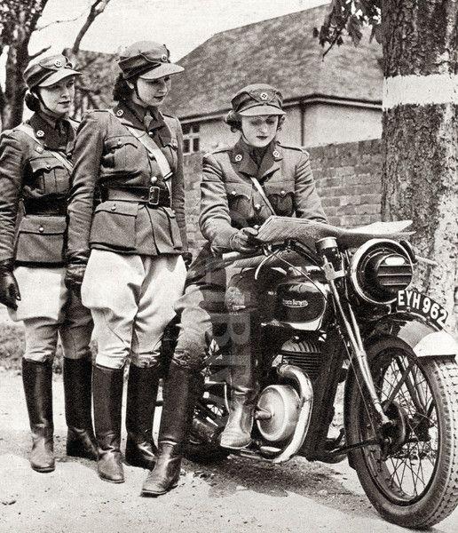 women wwii | Women Despatch Riders - WW2.