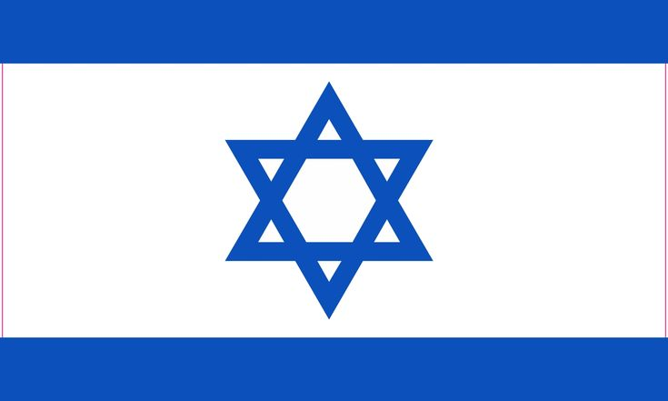 5.5in x 4in Proportional Israel Flag Sticker Vinyl Flag Vehice Window Decal