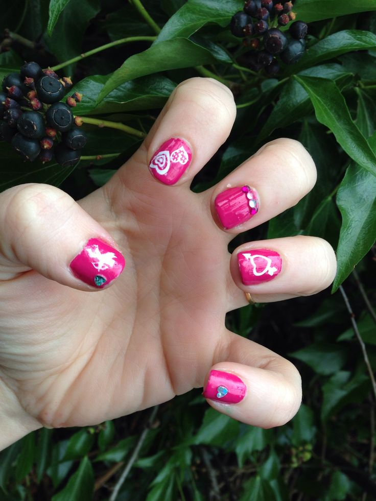 19 best louise kings diy nail art work in progress images on valentines nails cupid hearts and gems prinsesfo Images