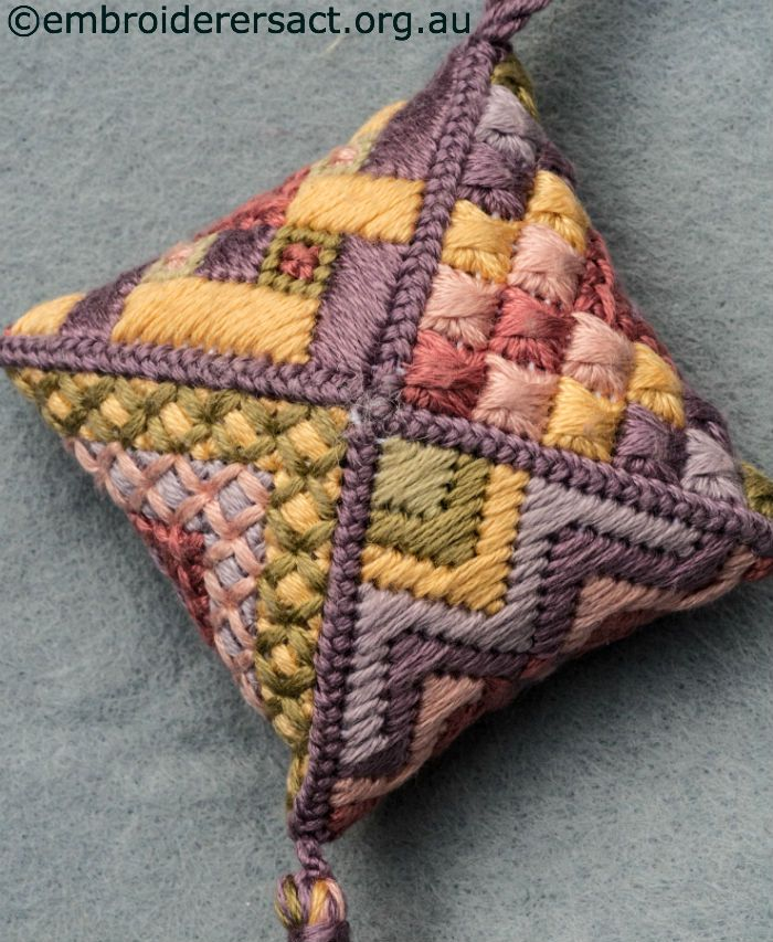Canvaswork (needlepoint) pin cushion