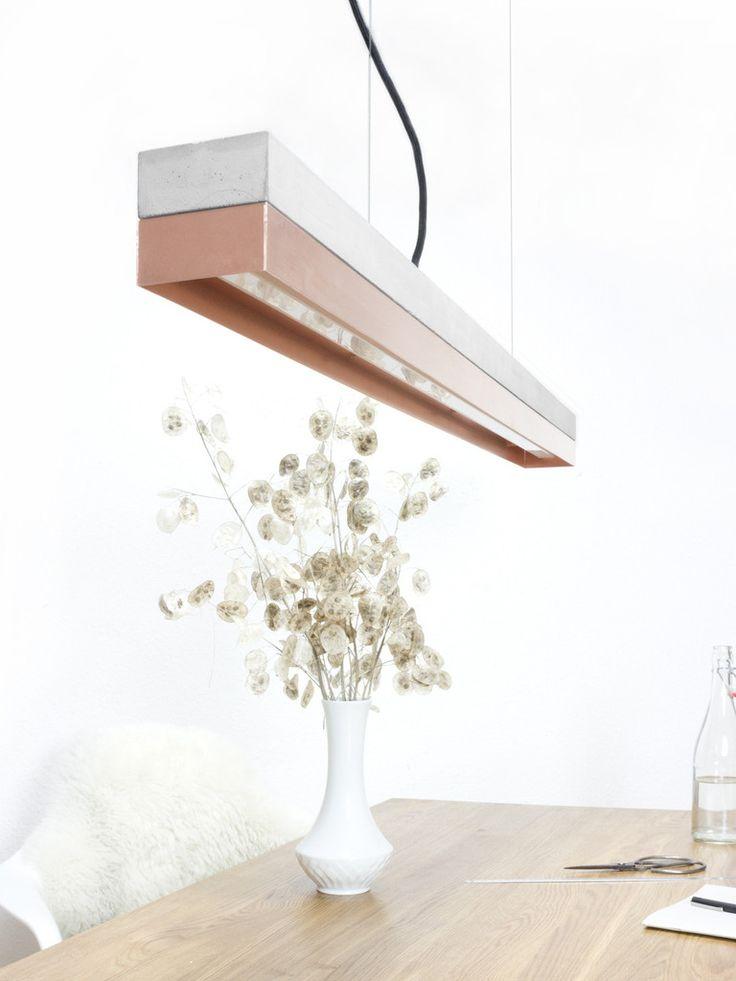 NEU// [C1]copper Pendelleuchte Beton Kupfer minimalistisch