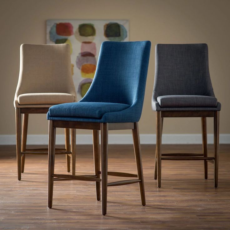 Belham Living Carter Mid Century Modern Upholstered Counter Height Stool |  From Hayneedle.com