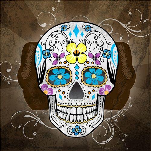 цветочный бульвар: мексиканские черепа (sugar skulls)