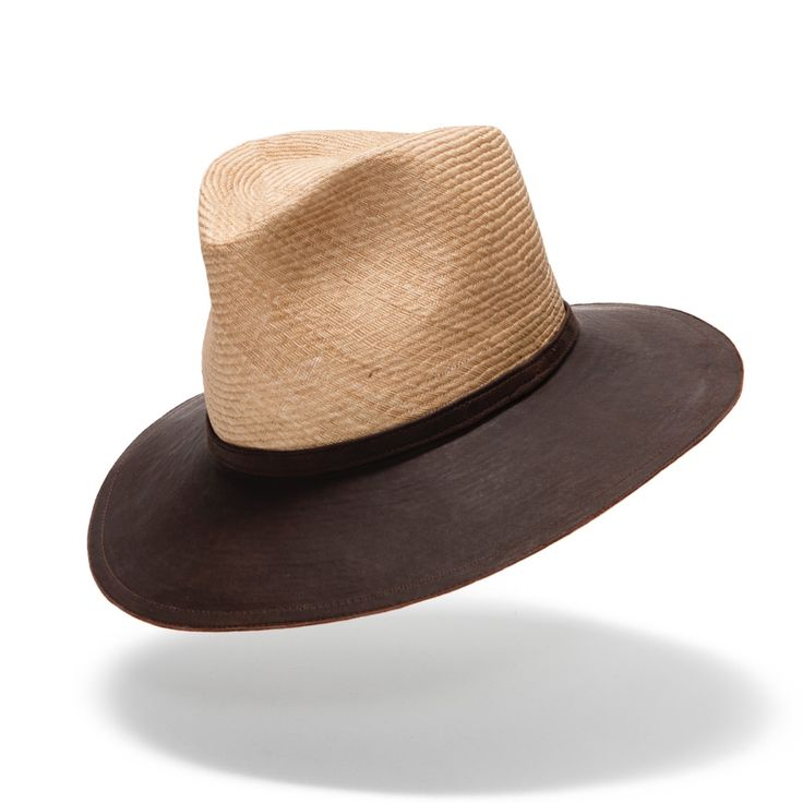 This well-made combination of tough buntal straw and sheepskin hide will last the distance. Comfy and durable #luxuryhat #ladieshat #leatherhat #countryhat #hatmaker #jonathanhoward www.hatmaker.com.au