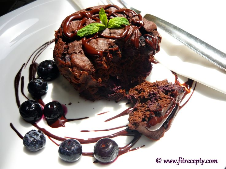 Zdravé čokoládové cupcakes (proteín) :: Fitrecepty